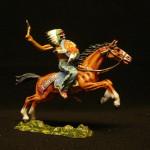 Elastolin Indianer zu Pferd mit Beil 6844 in DiedHoff BEamlung