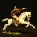 Elastolin Indianer zu Pferd mit Gewehr 6845 in DiedHoff Beamlung