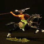 Elastolin Indianer zu Pferd mit Seerl 6853 in DiedHoff Beamlung