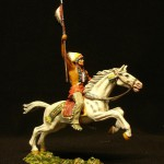 Elastolin Indianer zu Pferd mit Seerl 6854 in DiedHoff Beamlung