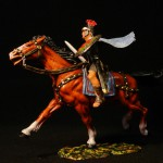 Elastolin Röner zu Pferd mit Umhang 8457 in DiedHoff Bemalung