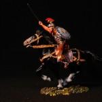 Elastolin Reiter mit Schwert in DiedHoff Bemalung